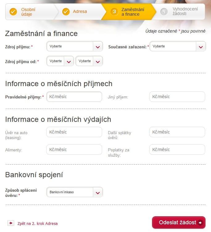 Cofidis půjčka krok 5
