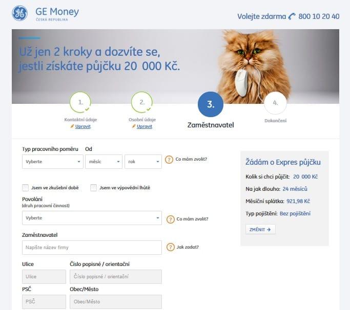 Expres půjčka od Ge Money krok 6