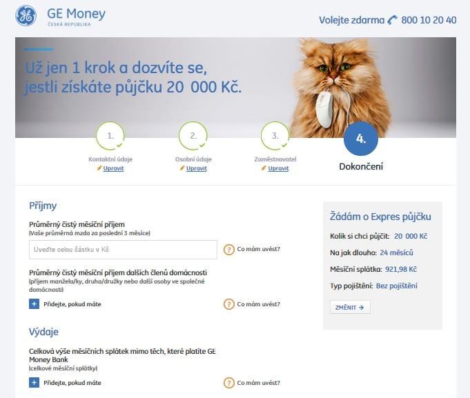 Expres půjčka od Ge Money krok 7