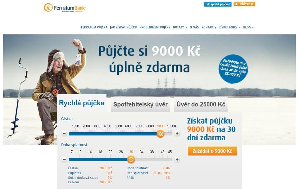 Ferratum půjčka krok 1