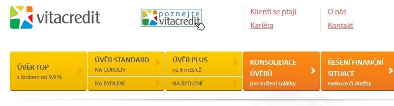 Vitacredit půjčka krok 1
