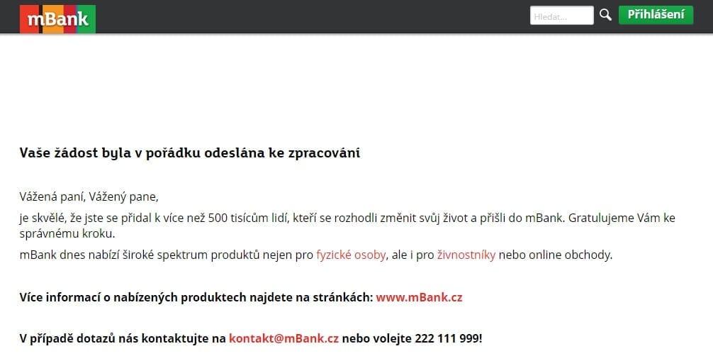 mBank mPůjčka plus krok 13